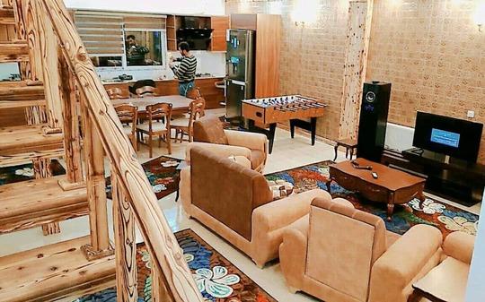 ویلای دوبلکس استخردار چوبی