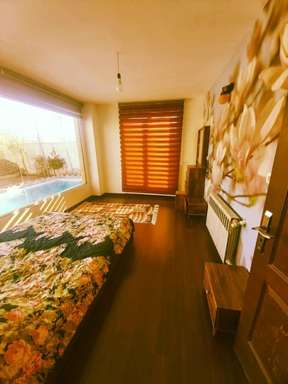 باغ ویلا دو خوابه نوساز و مدرن  استخر آبگرم کردان (103)